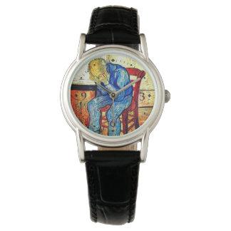 Sorrowing alter Mann durch Van Gogh Armbanduhr