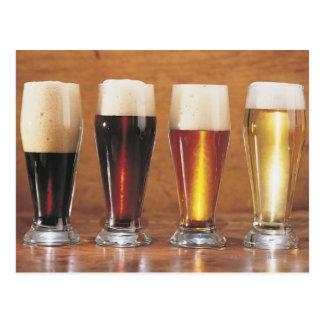 Sortierte Biere und Ale Postkarte