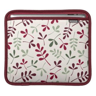 Sortierte Blätter Ptn Rottöne u. Grüntöne auf iPad Sleeve