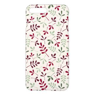 Sortierte Blätter-Wiederholung Ptn Rottöne u. iPhone 8 Plus/7 Plus Hülle