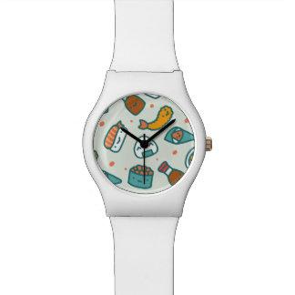 Sortierte Kawaii niedliche japanische Sushi Armbanduhr