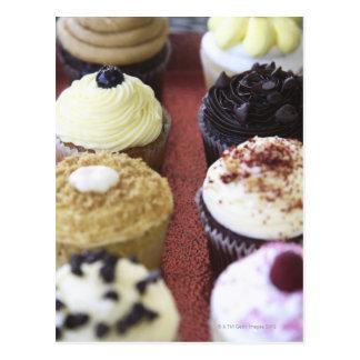 Sortierte kleine Kuchen Postkarte