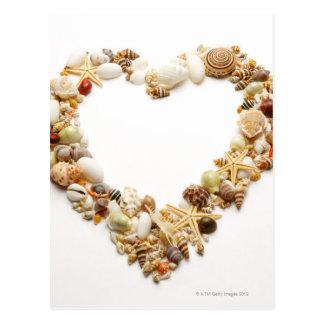 Sortierte Seashellsform-Herzform Postkarte
