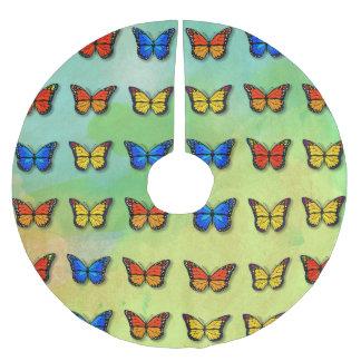 Sortiertes Schmetterlingsmuster Polyester Weihnachtsbaumdecke