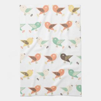 Sortiertes Vogelmuster Handtuch