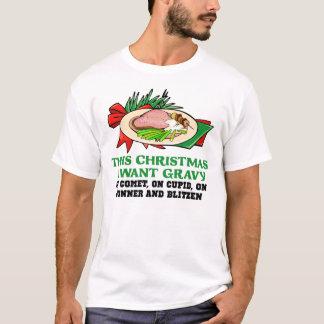 Soße auf Ren-lustigem WeihnachtsShirt T-Shirt