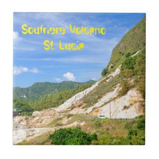 Soufriere Vulkan in St Lucia Fliese