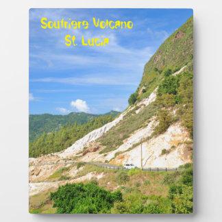 Soufriere Vulkan in St Lucia Fotoplatte