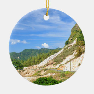Soufriere Vulkan in St Lucia Keramik Ornament