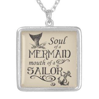 Soul einer Meerjungfrau, Mund eines Seemanns Versilberte Kette