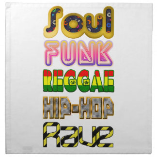 Soul, Funk, Reggae, Angesagt-Hopfen, Rave Stoffserviette