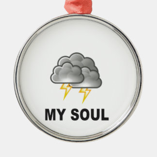 Soul meine Stürme Rundes Silberfarbenes Ornament