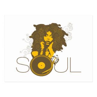 Soul-Musik-Postkarte Postkarte