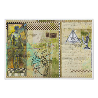"""""""Soul-Reise"""" 4 - Plakat-Papier-Lech 49cm x 33.1cm Poster"""