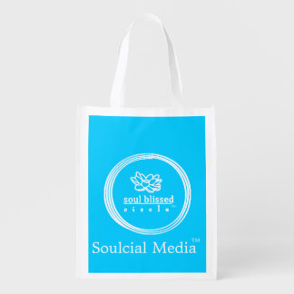 Soulcial Medium-wiederverwendbare Tasche Wiederverwendbare Einkaufstasche