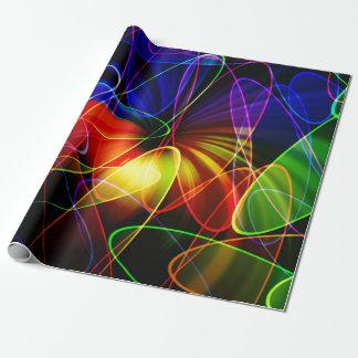 Soundwaves Neon-Fraktal Geschenkpapier
