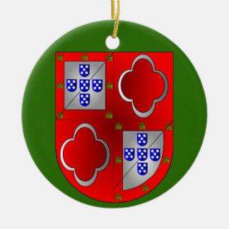 Sousa Familien-Wappen Weihnachtsverzierung Keramik Ornament