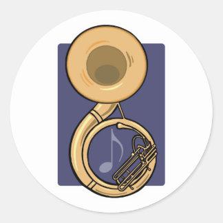 Sousaphone Runder Aufkleber