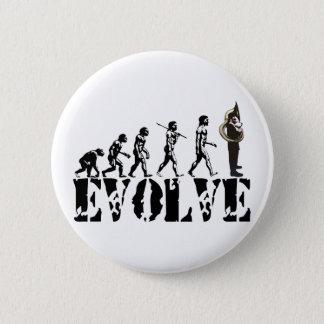 SousaphoneTubatubas-Evolutions-Musical-Kunst Runder Button 5,7 Cm