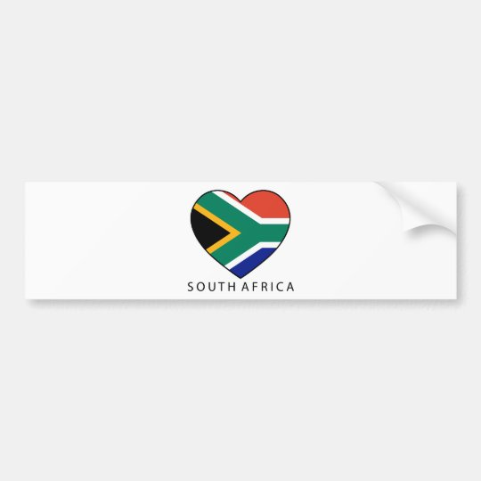 South Africa Heart with black SOUTH AFRICA Autoaufkleber