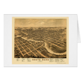 South Bend, IN panoramischer Karte - 1874