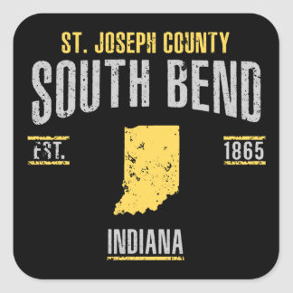 South Bend Quadratischer Aufkleber