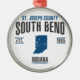 South Bend Silbernes Ornament