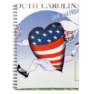 South Carolina laute und stolz, tony fernandes Spiral Notizblock