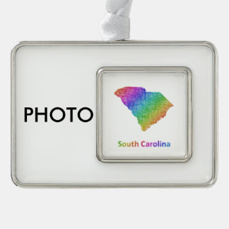 South Carolina Rahmen-Ornament Silber