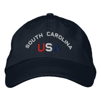 South Carolina USA stickte Marine-Blau-Hut Bestickte Baseballkappe