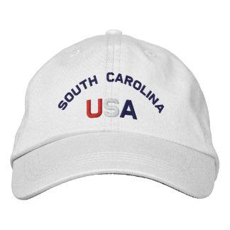 South Carolina USA stickte weißen Hut