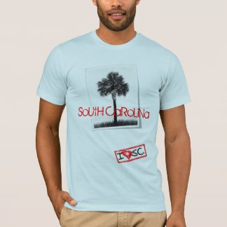 South Carolinapalmetto-Postkarten-T-Stück T-Shirt