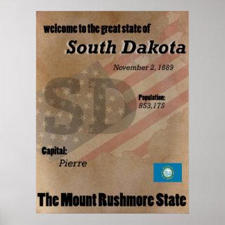 South Dakota der der Mount Rushmore Poster