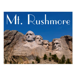 South Dakota, Fundament, der Mount Rushmore Postkarte