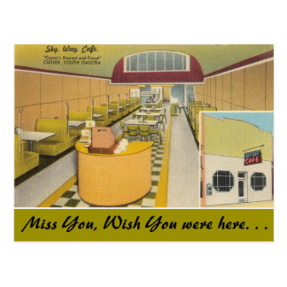 South Dakota, Himmel-Weisen-Café, Custer Postkarte