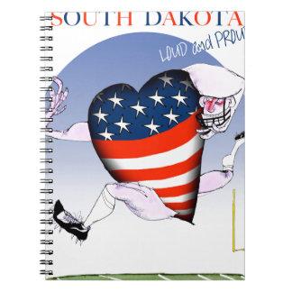 South Dakota laute und stolz, tony fernandes Notizblock