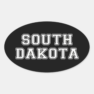 South Dakota Ovaler Aufkleber
