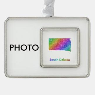 South Dakota Rahmen-Ornament Silber