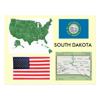 South Dakota, USA Postkarte