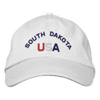South Dakota USA stickte weißen Hut Baseballcap