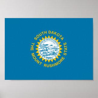 South- Dakotaflagge Poster
