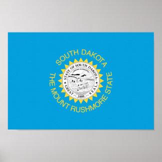 SOUTH- DAKOTAflagge - Poster