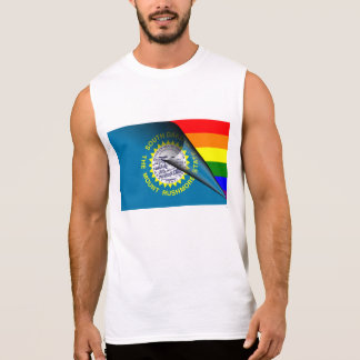 South- Dakotaflaggen-Gay Pride-Regenbogen Ärmelloses Shirt