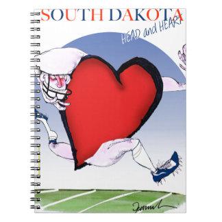 South Dakotahauptherz, tony fernandes Spiral Notizblock