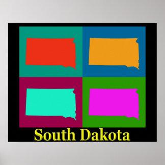 South- Dakotakarte Poster