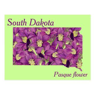 South- DakotaStaats-Blumen-Collagen-Karte Postkarten