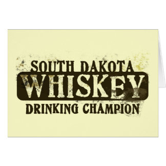 South- Dakotawhisky-trinkender Meister Grußkarte