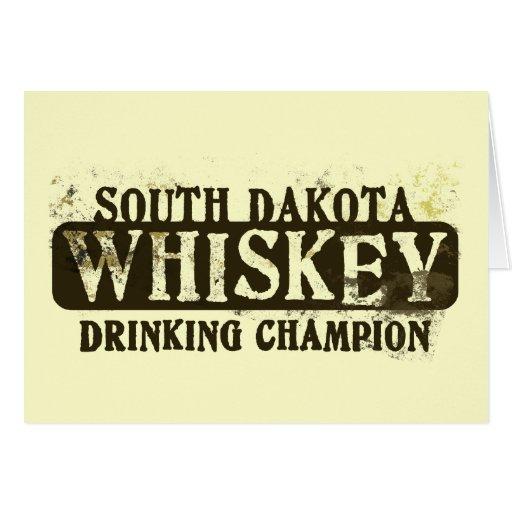 South- Dakotawhisky-trinkender Meister Grußkarten