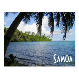 South Pacific gerahmt durch Palme, Samoa-Inseln Postkarte