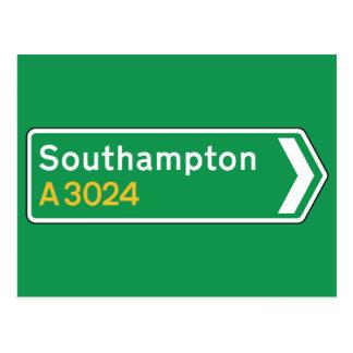 Southampton, BRITISCHES Verkehrsschild Postkarten